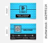 business card modern design... | Shutterstock .eps vector #662995114
