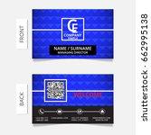 business card modern design... | Shutterstock .eps vector #662995138