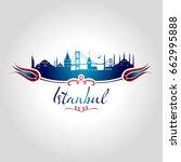 istanbul silhouette   Shutterstock .eps vector #662995888
