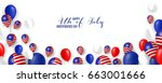 4th fourth of july  united... | Shutterstock .eps vector #663001666