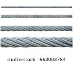 iron metal cable uses in the... | Shutterstock . vector #663003784