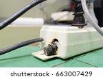 electricity short circuit ... | Shutterstock . vector #663007429