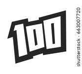 number 100   one hundred cool... | Shutterstock .eps vector #663007720