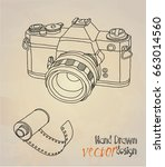 camera. retro  | Shutterstock .eps vector #663014560