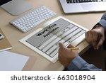 visa application  form... | Shutterstock . vector #663018904
