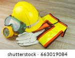 construction safety hard safety ... | Shutterstock . vector #663019084