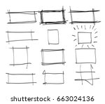 text box and frames.set hand... | Shutterstock .eps vector #663024136