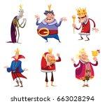vector set of six cartoon...   Shutterstock .eps vector #663028294