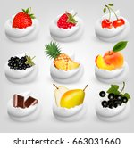 big collection of fruit in... | Shutterstock .eps vector #663031660