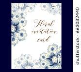 vintage delicate invitation...   Shutterstock .eps vector #663032440