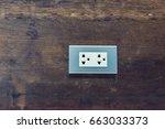 electrical floor outlet socket... | Shutterstock . vector #663033373