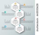 vector abstract 3d paper... | Shutterstock .eps vector #663033628