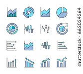 graph and chart icons for data... | Shutterstock .eps vector #663034264