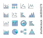 graph and chart icons for data... | Shutterstock .eps vector #663034273