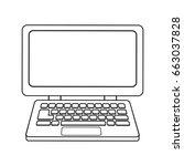 laptop computer device... | Shutterstock .eps vector #663037828