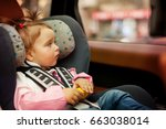portrait of a child buckle into ... | Shutterstock . vector #663038014