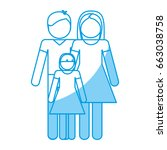 pictogram family design | Shutterstock .eps vector #663038758