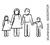 pictogram family design | Shutterstock .eps vector #663039529