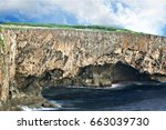 Small photo of Mesmerizing Banzai Cliffs The Banzai Cliffs in Marpi, Saipan is a historic site because of the thousands of Japanese who jumped to their deaths than surrender to the US forces in the World War 11.