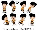 cartoon soccer kid with...