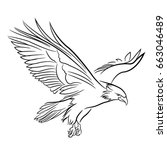 eagle vector | Shutterstock .eps vector #663046489