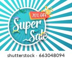 illustration of super sale... | Shutterstock .eps vector #663048094