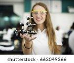 high school student hand... | Shutterstock . vector #663049366