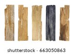 wooden planks isolated on white ... | Shutterstock . vector #663050863