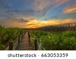 in dusk and beautiful sky  the... | Shutterstock . vector #663053359