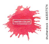 abstract watercolor splash. red ... | Shutterstock .eps vector #663057574