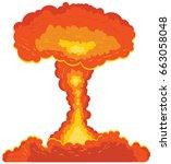 mushroom cloud bomb vector icon   Shutterstock .eps vector #663058048