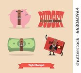 tight budget and recession... | Shutterstock .eps vector #663060964