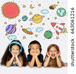 Group Students Studying Astronomy Outerspace - Fine Art prints