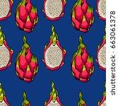 exotic seamless vector pattern. ... | Shutterstock .eps vector #663061378