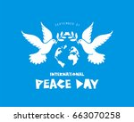 international day of peace.... | Shutterstock .eps vector #663070258