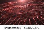 digital computer generation... | Shutterstock . vector #663070273