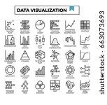 data visualization icons vector ... | Shutterstock .eps vector #663073693