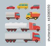 car icons. city transport.... | Shutterstock .eps vector #663080050