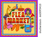vector design of flea market... | Shutterstock .eps vector #663095413