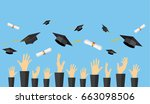 graduating students of pupil... | Shutterstock . vector #663098506