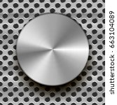 glossy metal knob with shadow...