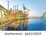 industrial petroleum production ... | Shutterstock . vector #663110029