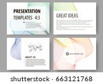 set of business templates for... | Shutterstock .eps vector #663121768