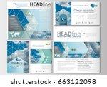 social media posts set.... | Shutterstock .eps vector #663122098