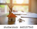real estate broker sale... | Shutterstock . vector #663137563