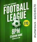 soccer league flyer design... | Shutterstock .eps vector #663140170