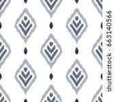 ikat seamless pattern. fancy... | Shutterstock .eps vector #663140566
