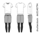 vector templates of clothing... | Shutterstock .eps vector #663140794