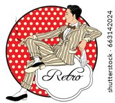 retro men s set  vector pretty... | Shutterstock .eps vector #663142024