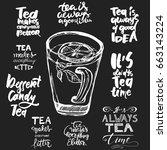 tea is always a good idea. tea... | Shutterstock .eps vector #663143224